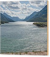 Upper Waterton Lake Wood Print