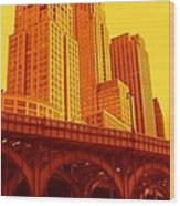 Upper West Side And Hudson River Manhattan Wood Print