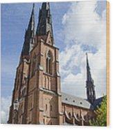 Uppsala Cathedral - Sweden Wood Print