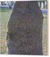 Uppsala Runestone Wood Print