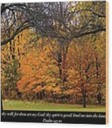 Uprightness Wood Print