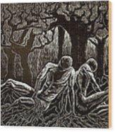 Uprooted Wood Print by Maria Arango Diener