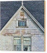 Upstairs Windows In Old House Wood Print by Jill Battaglia
