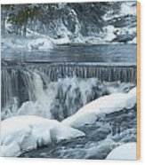 Upstream At Bond Falls Wood Print