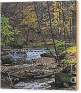 Upstream Bridal Veil Falls Wood Print