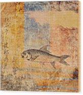 Upstream Wood Print by Carol Leigh