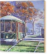 Streetcars Uptown New Orleans Wood Print