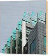 Uptown Rooftop Wood Print