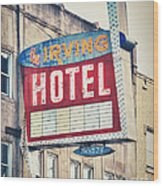 Chicago's Irving Hotel Wood Print