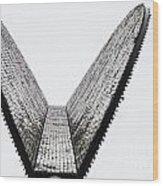 Upward Wedge Wood Print