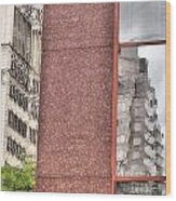 Urban Abstract Downtown Reflections Dayton Ohio Wood Print