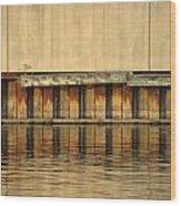 Urban Abstract River Reflections Wood Print