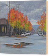 Urban Autumn Wood Print