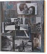 Urban Decay Engagement Collage Wood Print