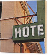 Urban Decay In Hollywood Wood Print