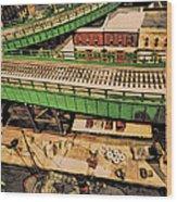Urban Dock Wood Print