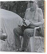 Urban Elder Vern Harper Cleaning Pipes Wood Print
