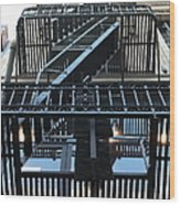 Urban Fabric - Fire Escape Stairs - 5d20592 Wood Print