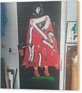 Urban Gorrilla Gay Guevara With Gun And Holster Wood Print