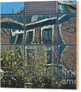 Urban Reflections Madrid Wood Print by Frank Tschakert