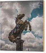 Urban Sky Horse Wood Print