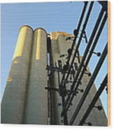 Urban Towers And Poles Wood Print