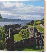 Urquhart Castle Ruins Wood Print