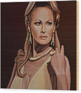 Ursula Andress Wood Print by Paul Meijering