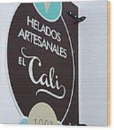 Uruguay Helados Wood Print