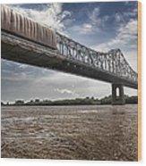 Us 190 Bridge Wood Print