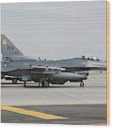 U.s. Air Force F-16c Planes Undergo Wood Print