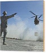 U.s. Air Force Master Sergeant Guides Wood Print