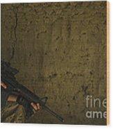 U.s. Air Force Staff Sergeant Provides Wood Print