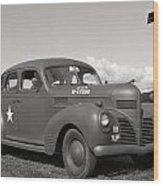Us Army Dodge Staff Car Wood Print