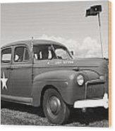 Us Army Ford Staff Car  Wood Print