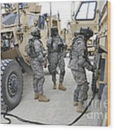 U.s. Army Soldiers Jump Start A Light Wood Print