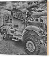 Us Army Troop Carrier Wood Print