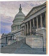 Us Capitol Building And Senate Chamber Wood Print