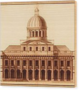 U.s. Capitol Design 1791 Wood Print