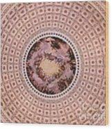 U S Capitol Dome Mural # 2 Wood Print