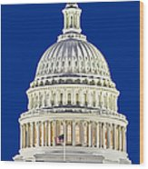 Us Capitol Dome Wood Print