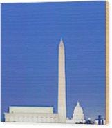 Us Capitol, Washington Monument Wood Print