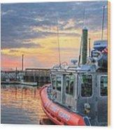 Us Coast Guard Defender Class Boat Wood Print