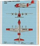 Coast Guard Hc-130 B Hercules Wood Print