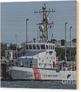 Us Coast Guard Yellowfin Wood Print
