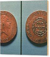 U.s. Coin, 1793 Wood Print