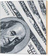Us Dollar Bills  Wood Print