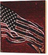 Us Flag Wood Print