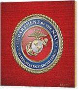 U. S. Marine Corps - U S M C Seal  Wood Print