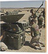 U.s. Marines Assemble A Support Wide Wood Print